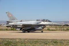 Polski siły powietrzne myśliwiec f-16 strumień Obraz Royalty Free