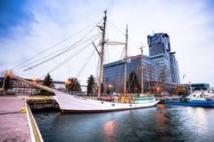 Polski statek dokujący w Gdynia Zdjęcia Stock