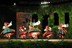 Polski tradycyjnego tana taniec w parach obrazy royalty free