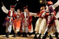 Polski tradycyjny ludowy taniec Zdjęcia Stock