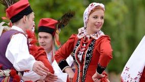 Polski tradycyjny ludowy taniec Obraz Royalty Free