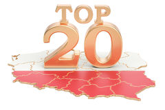 Polski wierzchołka 20 pojęcie, 3D rendering Fotografia Royalty Free