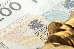 Polski złoty, zakończenie Obraz Royalty Free