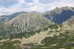 Polskie Tatrzańskie góry - widok od Kasprowy zdjęcia royalty free