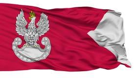 Polskiej siły lądowe flaga Odosobniona Bezszwowa pętla royalty ilustracja