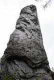 Polskt Jurassic vaggar på en kulle i Jura krakowskoczestochowska Royaltyfria Bilder