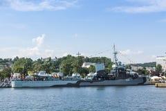 Polskt museumskepp Gdynia för jagare ORP Blyskawica Arkivfoto