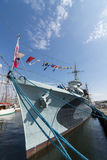 Polskt museumskepp Gdynia för jagare ORP Blyskawica Arkivbild