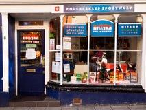 Polskt shoppa i UK Arkivbild