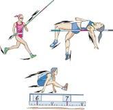 Polsstokspringen, Hoogspringen en Vérspringen Royalty-vrije Stock Afbeelding