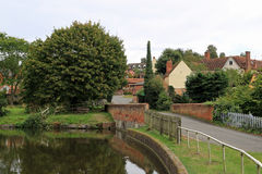 Polstead Pond. Polstead is a small village in Suffolk Stock Photo