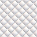 Polsterung des weißen Leders nahtlos Lizenzfreies Stockbild