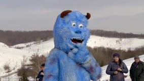 Poltava, Ucrânia, em dezembro de 2016 James P Sullivan em feriados de inverno