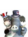 Política - gêmeos Siamese Imagens de Stock