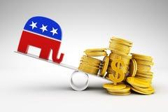 Política y dinero Foto de archivo libre de regalías