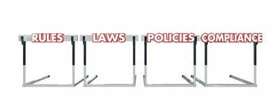 Políticas das leis das regras que saltam o negócio legal dos obstáculos Foto de Stock