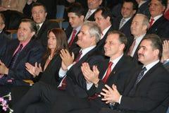 Políticos romenos Imagens de Stock