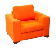 Poltrona arancione Fotografia Stock Libera da Diritti