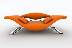 Poltrona arancione moderna Fotografie Stock