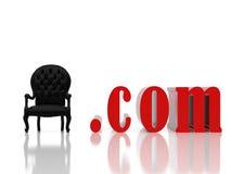 Poltrona branca Imagens de Stock Royalty Free