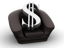 Poltrona con il dollaro Immagini Stock Libere da Diritti
