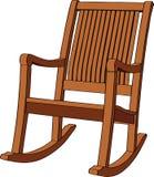 Poltrona d'oscillazione di legno Immagini Stock Libere da Diritti