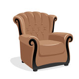 Poltrona de couro clássica Imagem de Stock Royalty Free