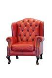 Poltrona de couro vermelha Fotografia de Stock Royalty Free