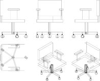 poltrona dell'ufficio 3D Immagine Stock Libera da Diritti