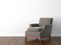 Poltrona di colore marrone di disegno interno illustrazione di stock