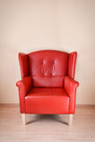 Poltrona di cuoio rossa Immagini Stock Libere da Diritti