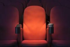 Poltrona do cinema de Emoty Imagens de Stock