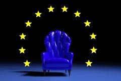 Poltrona europea blu Fotografia Stock