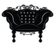 Poltrona imperiale barrocco Immagini Stock