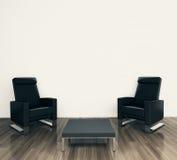 Poltrona interior moderna mínima Fotos de Stock Royalty Free