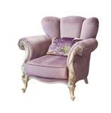 Poltrona isolada violeta Imagem de Stock