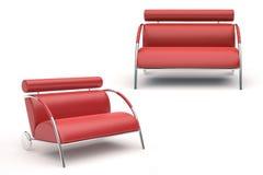 Poltrona moderna vermelha Imagem de Stock Royalty Free