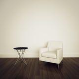 Poltrona no interior confortável moderno Fotos de Stock Royalty Free