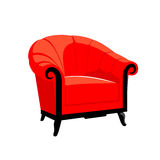 Poltrona real clássica vermelha Imagem de Stock Royalty Free