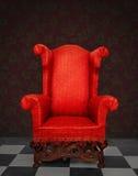 Poltrona rossa Fotografia Stock Libera da Diritti