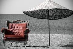 Poltrona rossa Fotografia Stock