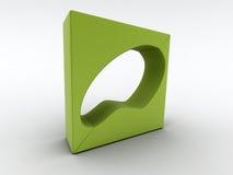Poltrona verde moderna illustrazione vettoriale