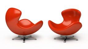 Poltrona vermelha de couro Imagem de Stock