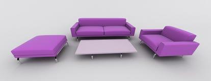 Poltrona violeta do sofá ilustração stock