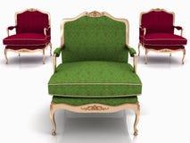 Poltronas à moda clássicas Imagem de Stock