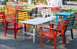 Poltronas de madeira coloridas Imagens de Stock
