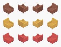 Poltrone colorate moderne isometriche Fotografie Stock