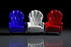 Poltrone francesi di colore Immagine Stock Libera da Diritti