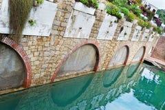Poltu Quatu detail. Detail of the inner canal in Poltu Quatu, Sardinia Stock Images
