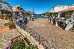 Poltu Quatu small square in Sardinia Stock Images